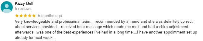 Anthony Massage Patient Testimonial