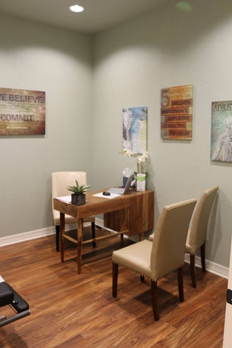Massage Therapy Temple TX Reception Area